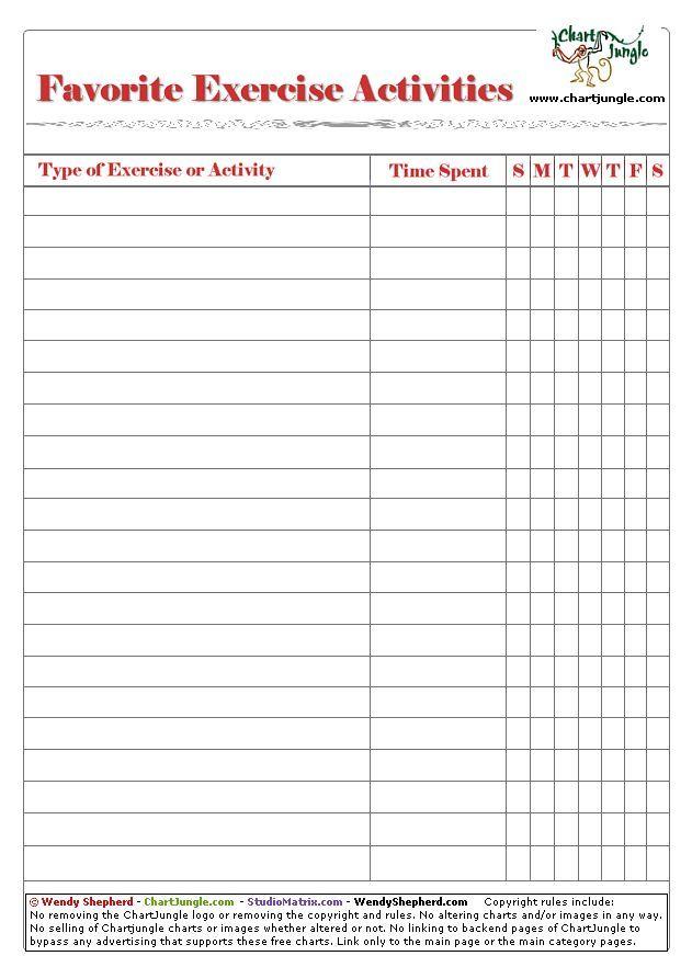 Daily Workout Chart 5c1f2b33ef6b060b8a93b54407700e82jpg Health