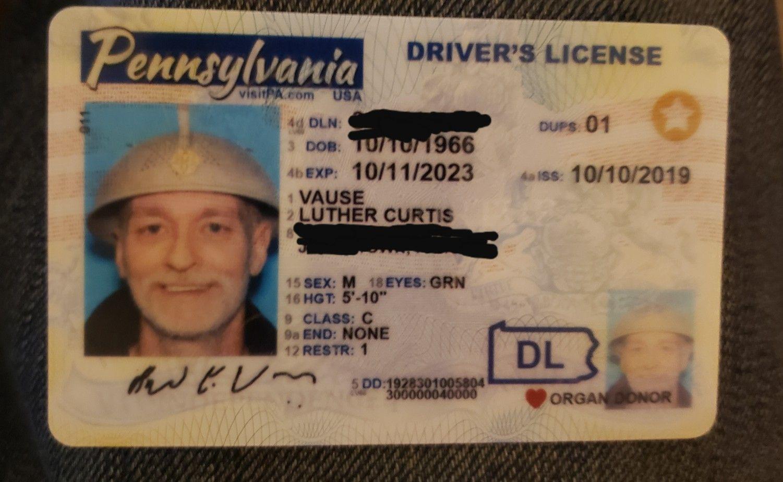 Pastafarian PADL Real id, Hunter s thompson, Drivers license