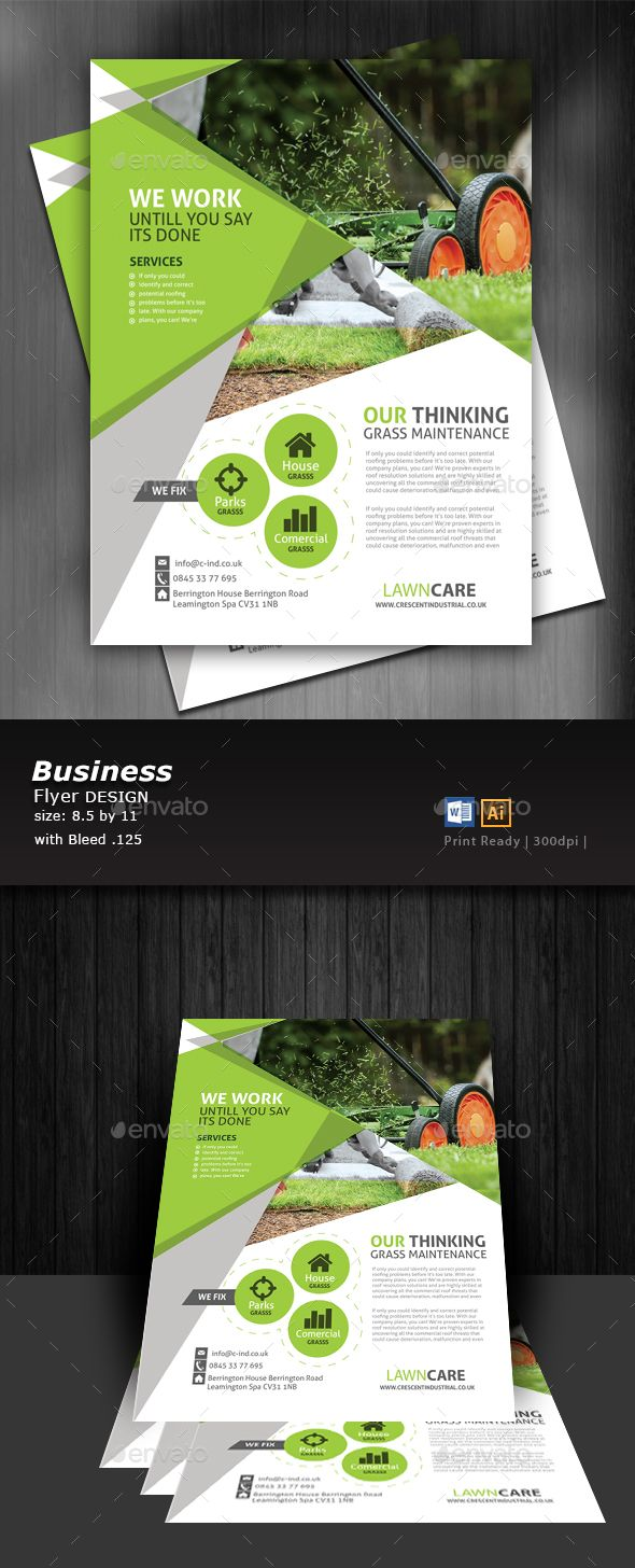 lawn care flyer eps template only available here httpgraphicriver