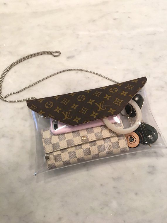 a7f47a61 Recycled Louis Vuitton Clear Stadium Bag Clutch crossbody handbag ...