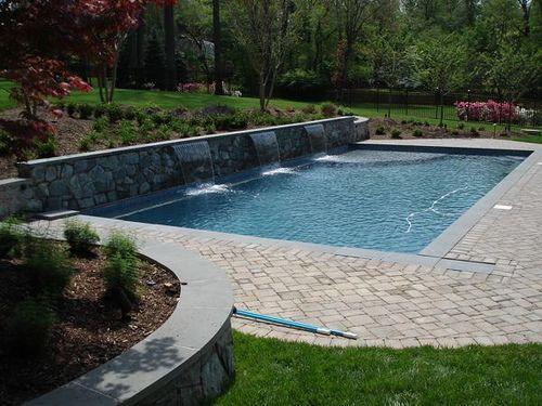 Backyard Swimming Pool Landscape Rectangle Swimming Pools Backyard Pool Landscaping Swimming Pool Landscaping