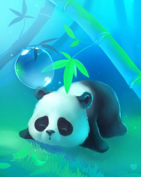 Cosy Under Bamboo Panda Art Panda Wallpapers Cute Animal Drawings