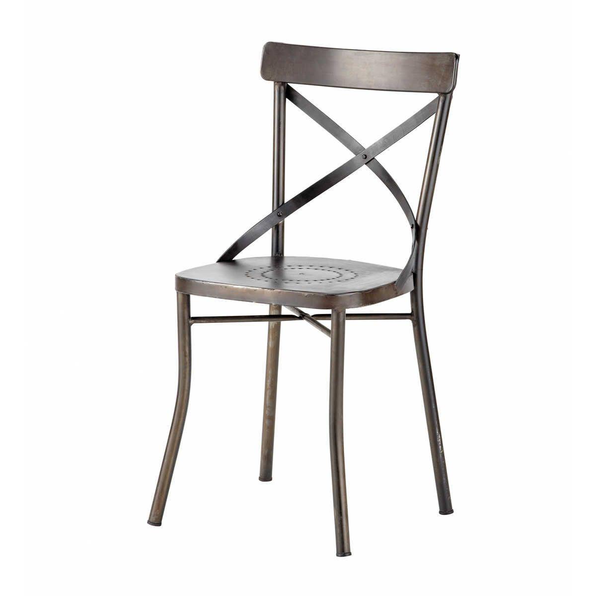 Chaise De Jardin En Metal Noir Maisons Du Monde Garden Chairs Metal Garden Chairs Metal Chairs