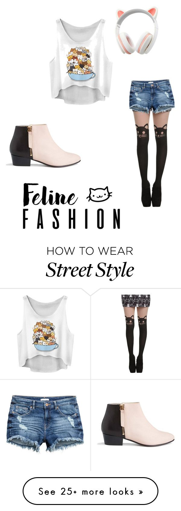 """Cat Fashion street style"" by mcdonaldk-1 on Polyvore featuring Nine to Five"