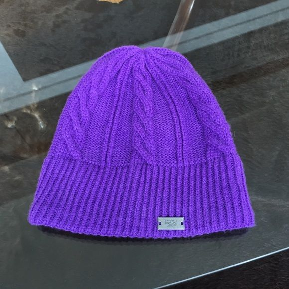 Mountain Hardwear purple knit hat New knit hat. Lined with very soft fleece. I'm not a hat person so never worn. Mountain Hardwear Accessories Hats