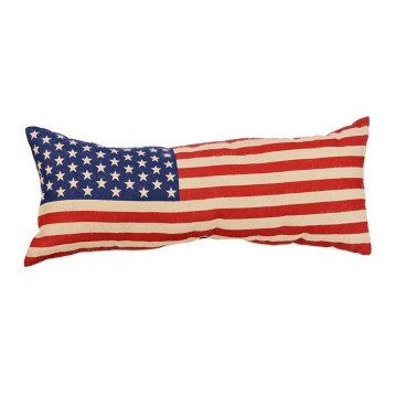 Vintage American Flag Bench Pillow Bench Pillows American Flag Pillow Vintage American Flag