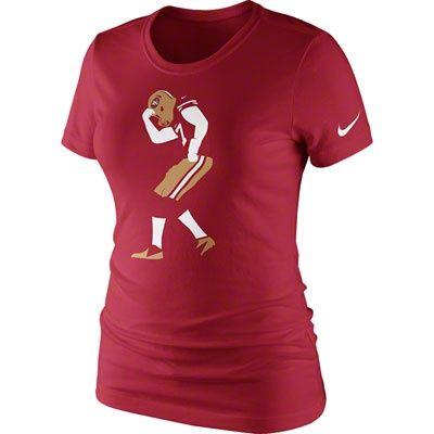 "Colin Kaepernick Women's ""Kaepernicking"" San Francisco 49ers Nike T-Shirt...wanntt!"