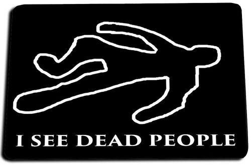 I See Dead People Door Mat Rug