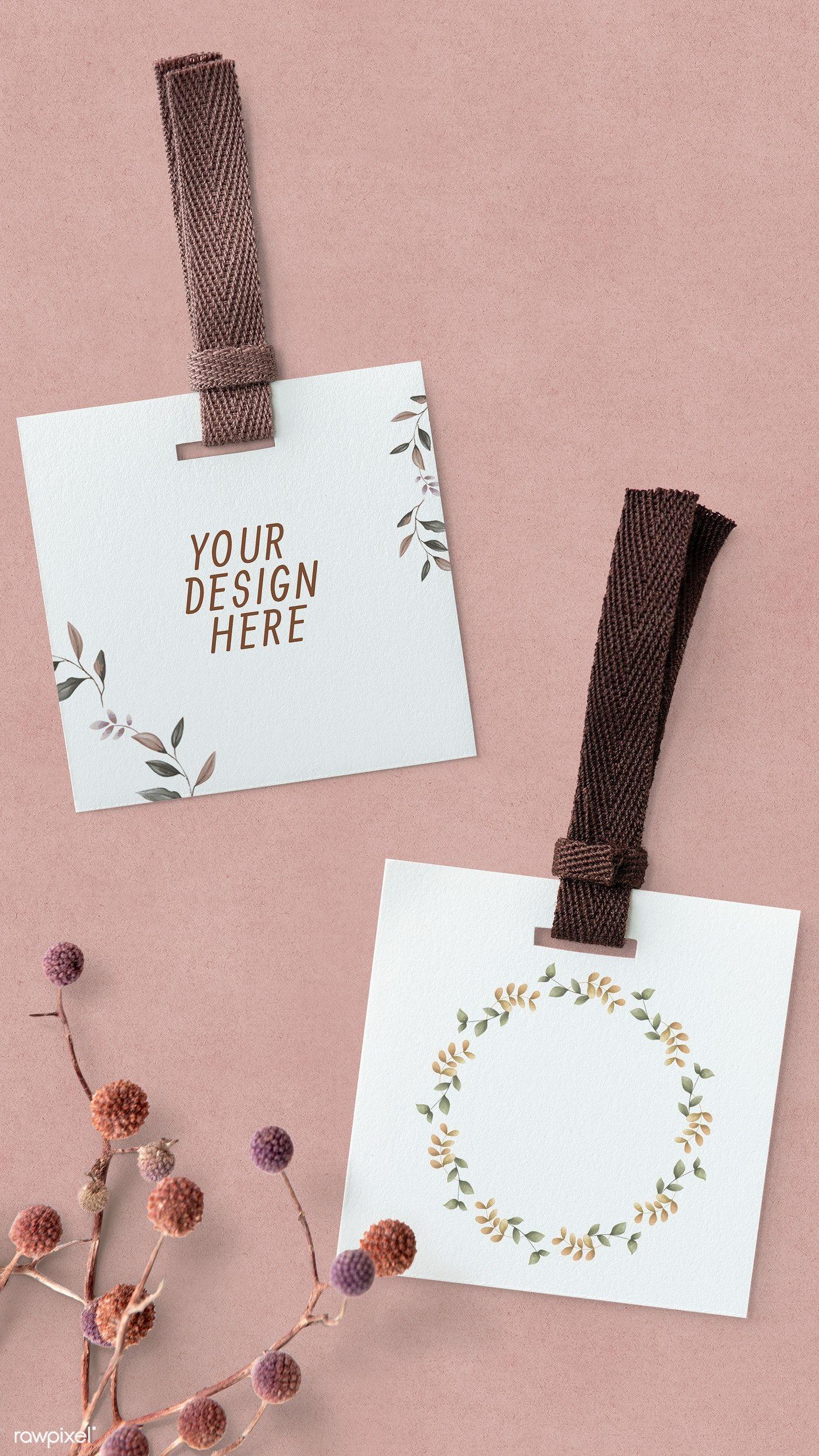 Download Download Premium Psd Of Square Label Mockup Mobile Wallpaper Illustration Handmade Packaging Branding Design Packaging Tag Design