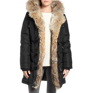 Women's Pajar Nikita Genuine Fur Trim Down Coat   Animals in ...