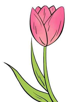 How To Draw A Tulip Really Easy Drawing Tutorial Flower Drawing Tutorials Flower Drawing Simple Flower Drawing