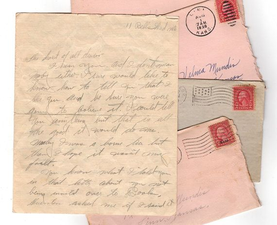 Antique Love Letter 1 Hand Written