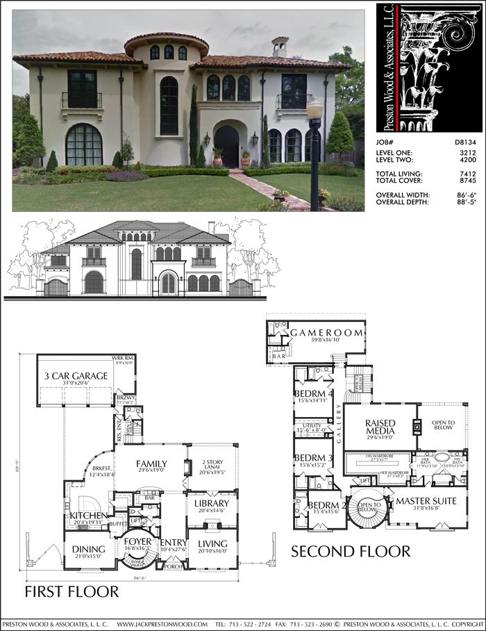 Two Story House Plan D8134 Two Story House Plans Colonial House Plans House Plans