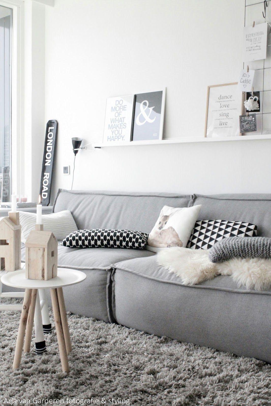 Sofá e decoração cinza - inspiração sala de estar A COR !!!
