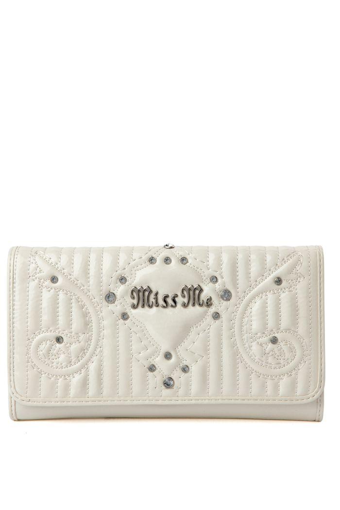 White Patent Ella Wallet