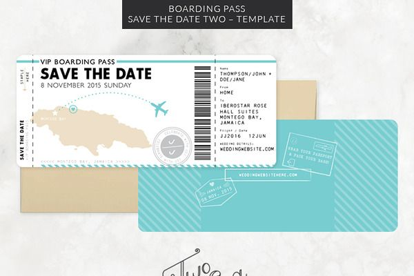 Boarding Pass Save the Date Template save the date Pinterest - boarding pass template