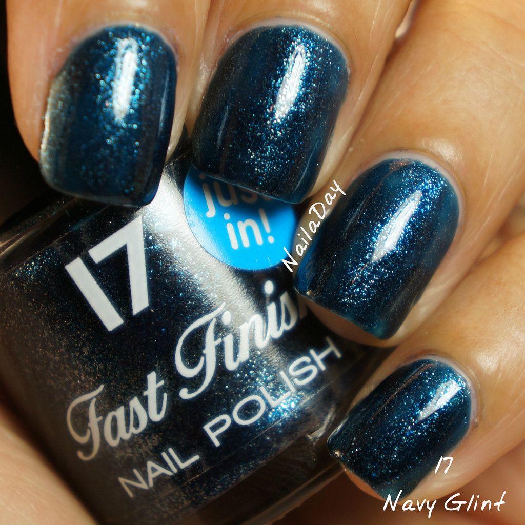 NailaDay: Stash swatches - Boots 17 Navy Glint | Nail inspirations ...