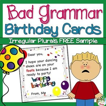 Free Sample Of Bad Grammar Birthday Cards This Free Sample Is A