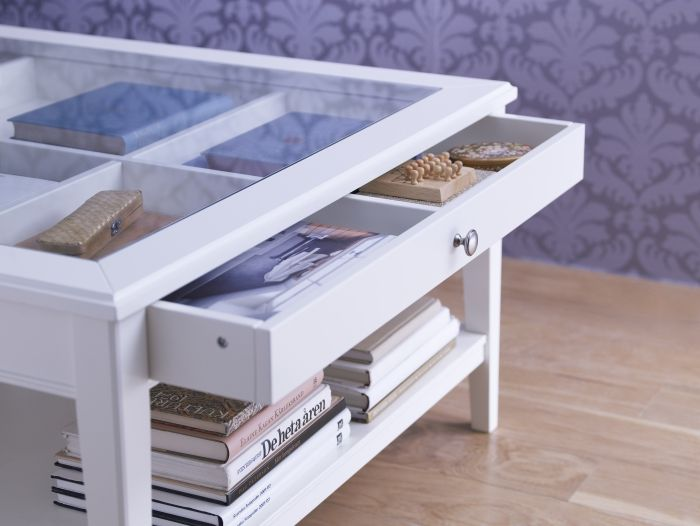 Liatorp Coffee Table White Glass Liatorp Organizing And Display