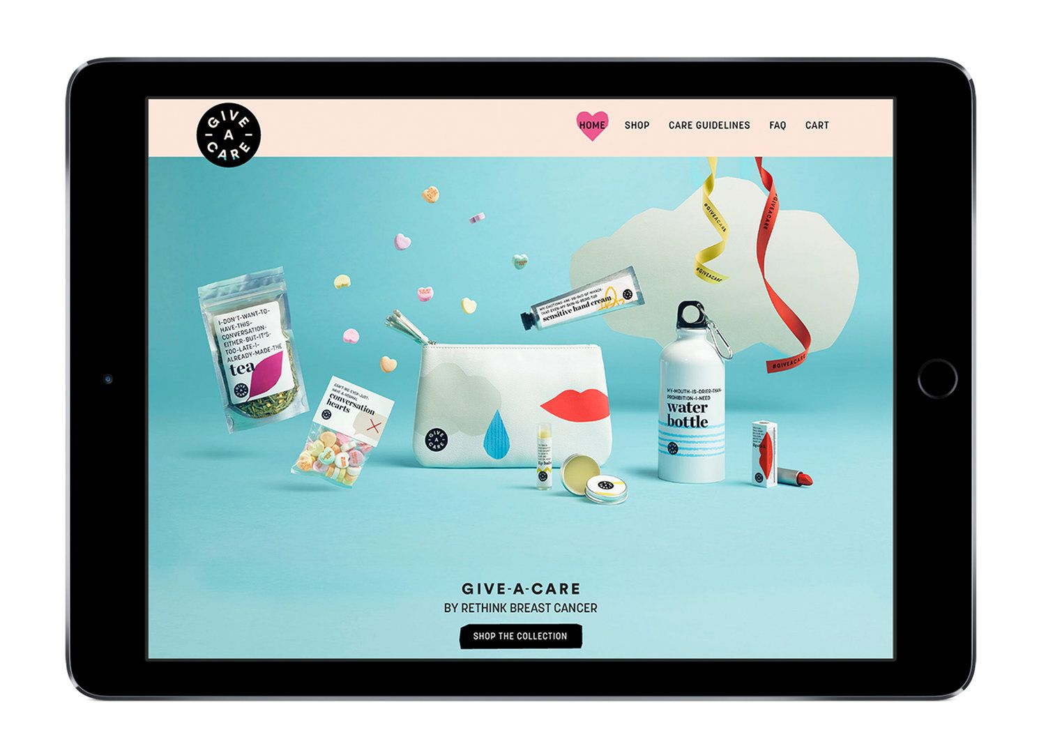 Rethink Breast Cancer Give-A-Care Collection — The Dieline | Packaging & Branding Design & Innovation News