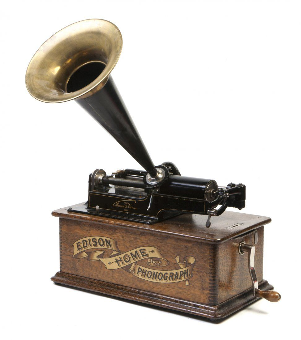 An Edison Standard Cylinder Phonograph Serial Number H165460 Having A Brass And Tin Horn