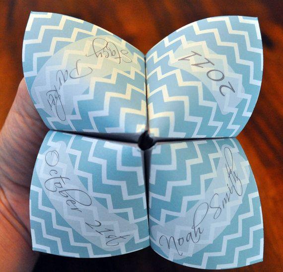 Wedding Program Cootie Catcher Custom By DesignsByTenisha