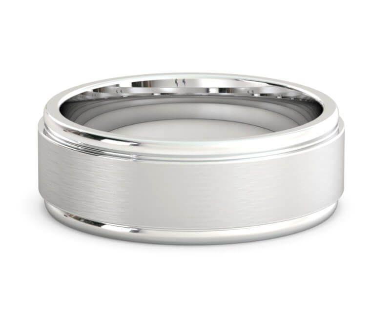 8mm platinum newport wedding band cool mens wedding