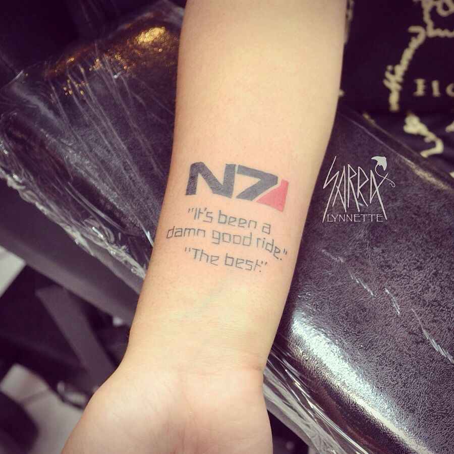 Tattoo Ideas Gaming: Mass Effect Video Game Quote Tattoo By Sarra Lynnette At