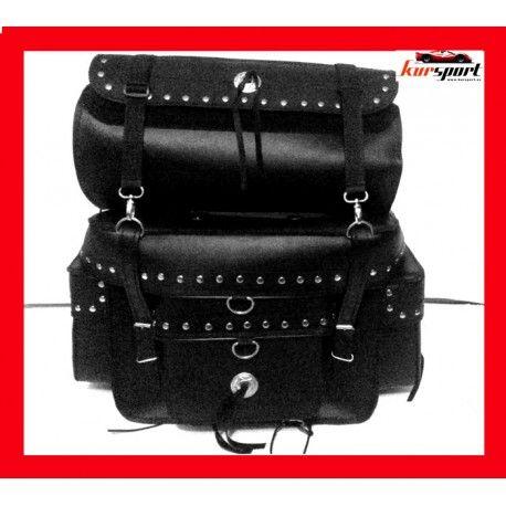 Baúl trasero con rulo de cuero 33 litros #accesoriosmoto #alforjas #motos #motorista #custom #biker #chopper #kursport #accesoriosmotos #moto #motorcycle #moteros #motorbike #saddlebag #leather #sissybar #bag #bags