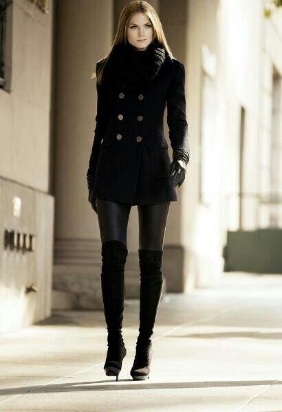 Total black SEMPRE VIVA!!! | Moda | Estilo del invierno