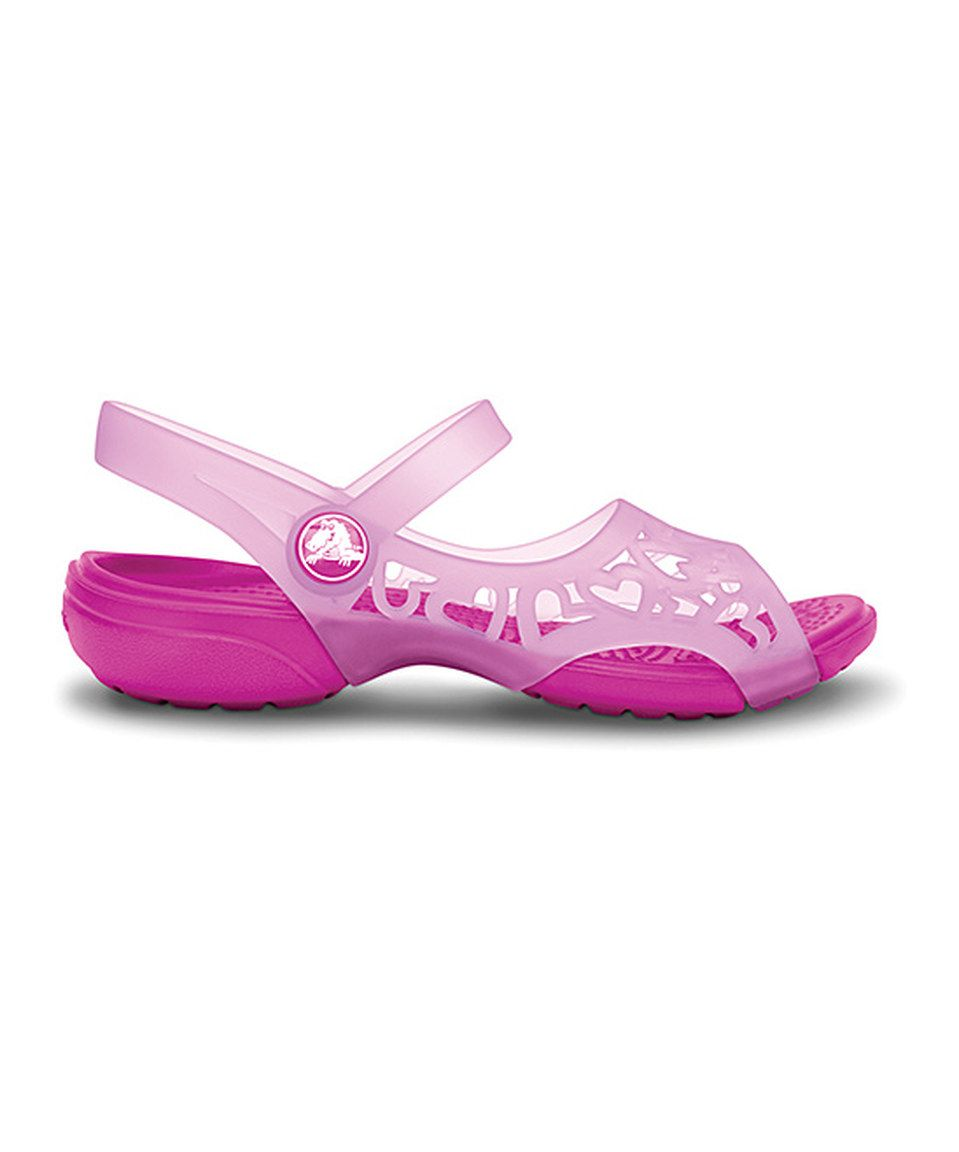 c05b53aaec90a Crocs Neon Magenta Adrina Hearts Sandal - Toddler by Crocs  zulily   zulilyfinds