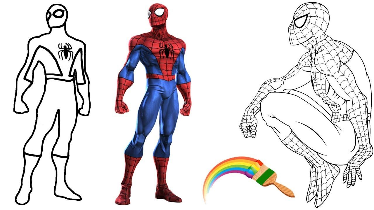 Spiderman Coloring Book for Kids, Learn Colors Coloring Pages ...