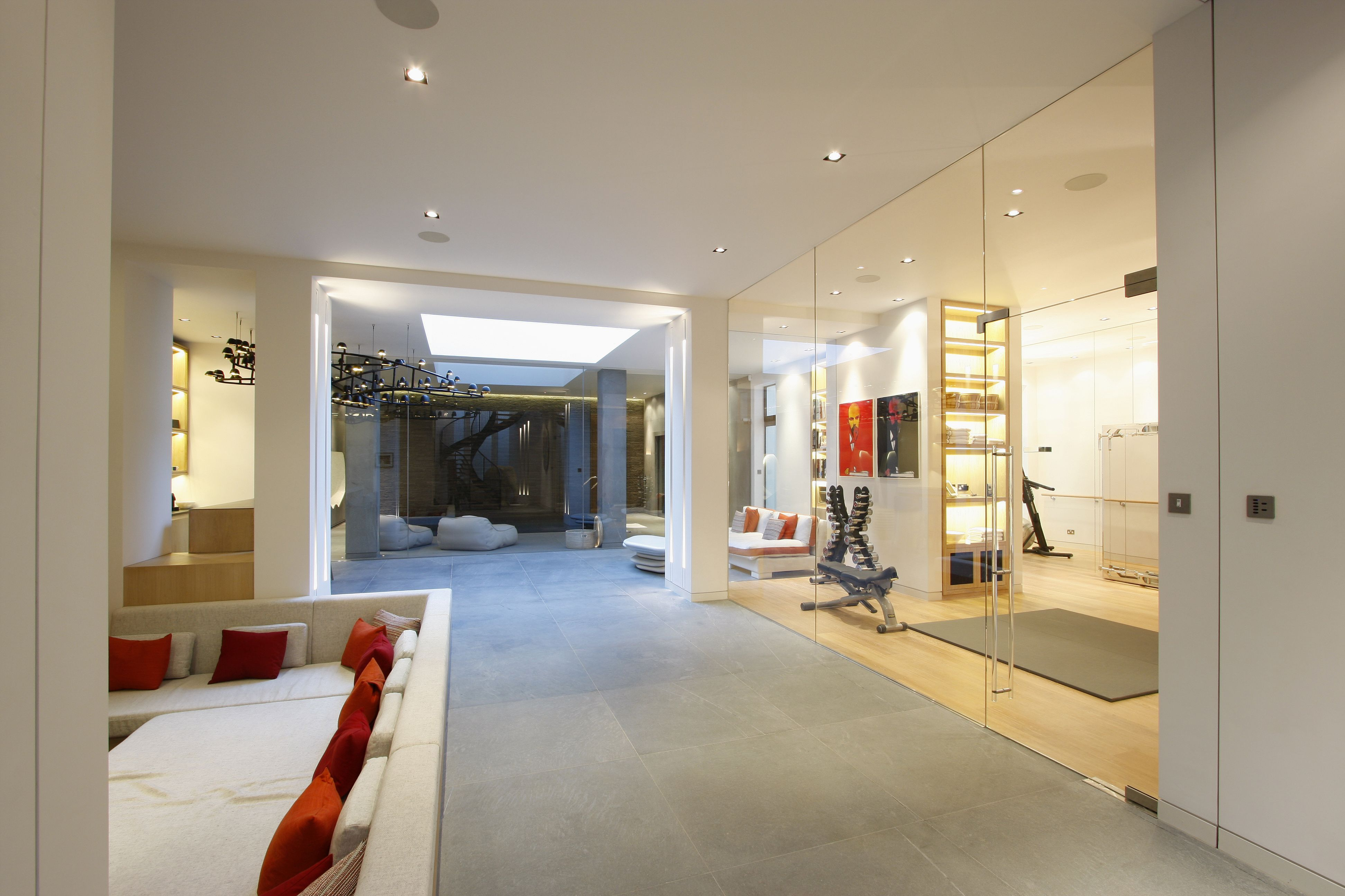 Internal Glass partition between basement and gym by IQ Glass www ...
