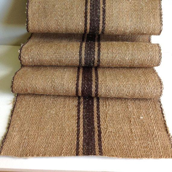 Vintage Handwoven Linen / Vintage Linen / Antique By Bicoestonia Floor  Runners, Stair Runners,