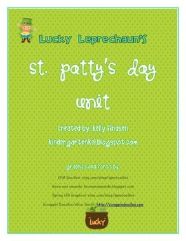 My St. Patty's Unit is 20% off today, February 29th, at my Teachers Pay Teachers Store!!
