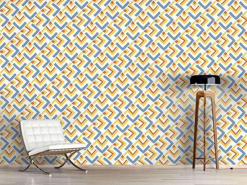 Design #Tapete Boomerang Blau