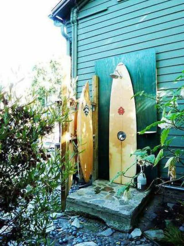 Summer Surf Shack Outdoor Shower Outdoor Bathrooms Beach Decor