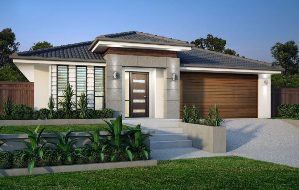 10 hermosas fachadas de casas de una planta ideas para for Fachadas modernas de una planta