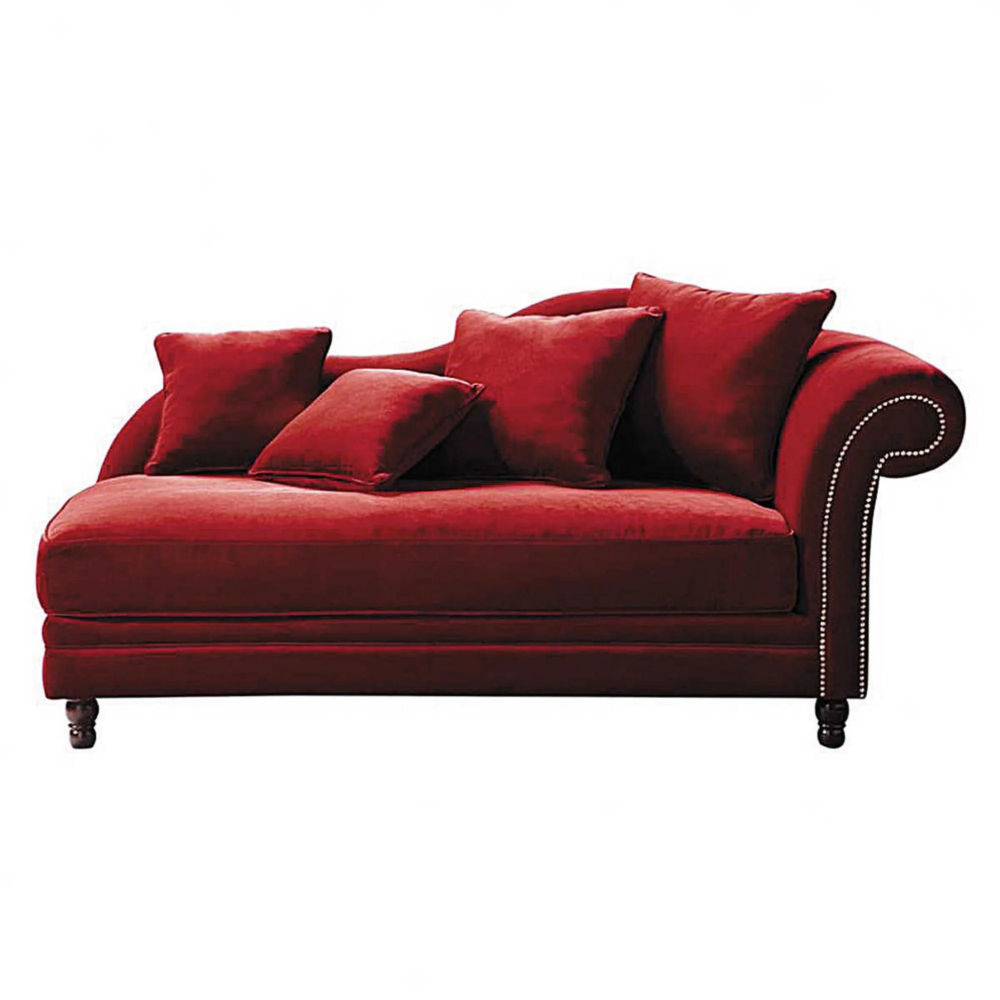 Meridienne En Velours Rouge In 2020 With Images Stylish Sofa