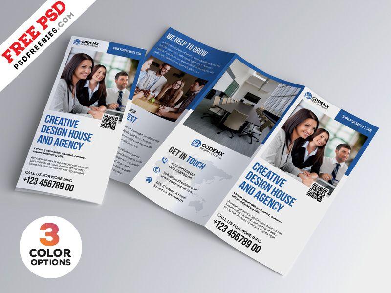 Professional A4 Tri Fold Brochure Psd Bundle Free Brochure Template Trifold Brochure Template Brochure Design Template