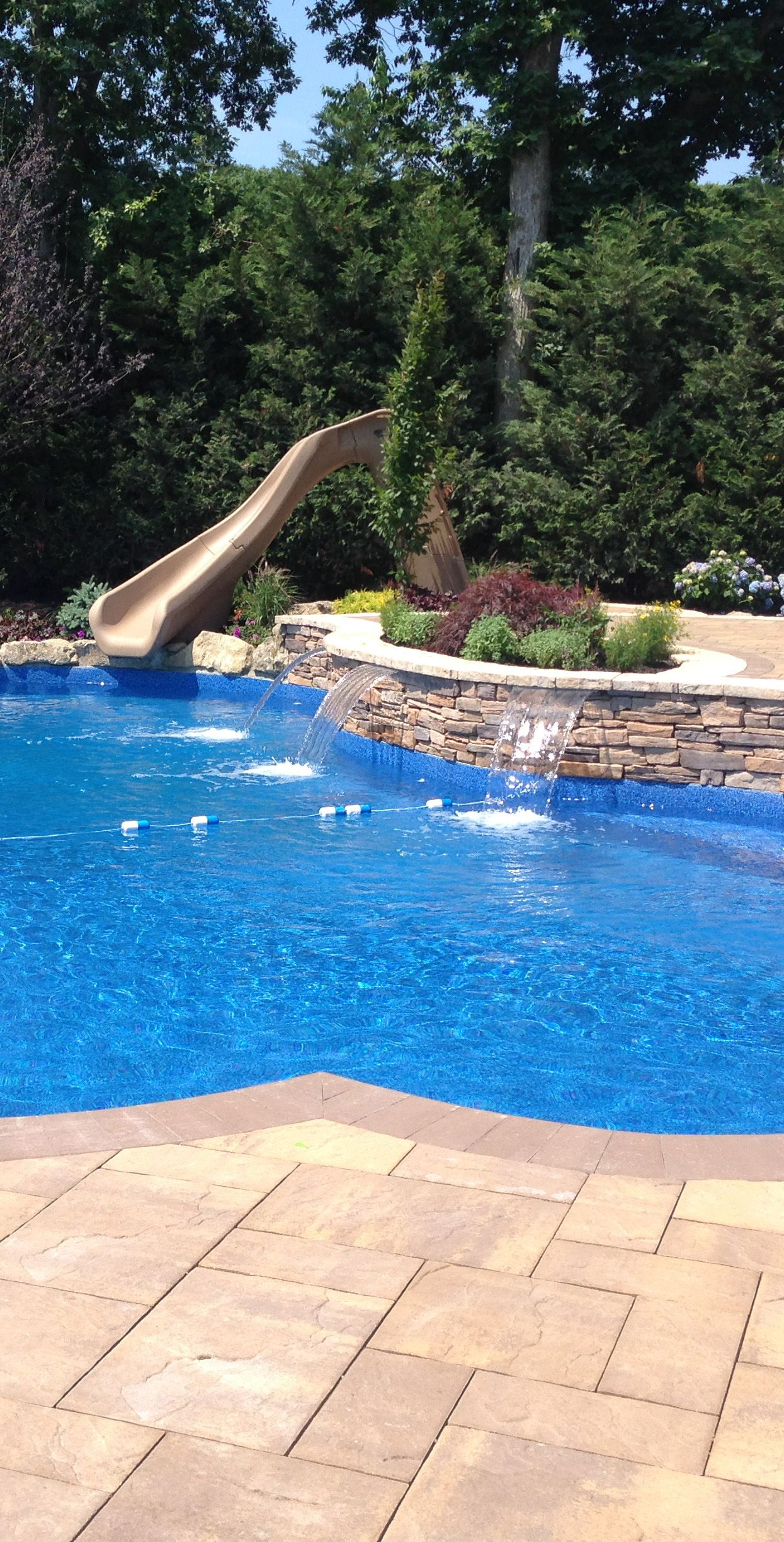 water slide sheer descent waterfalls from zodiacpoolusa and