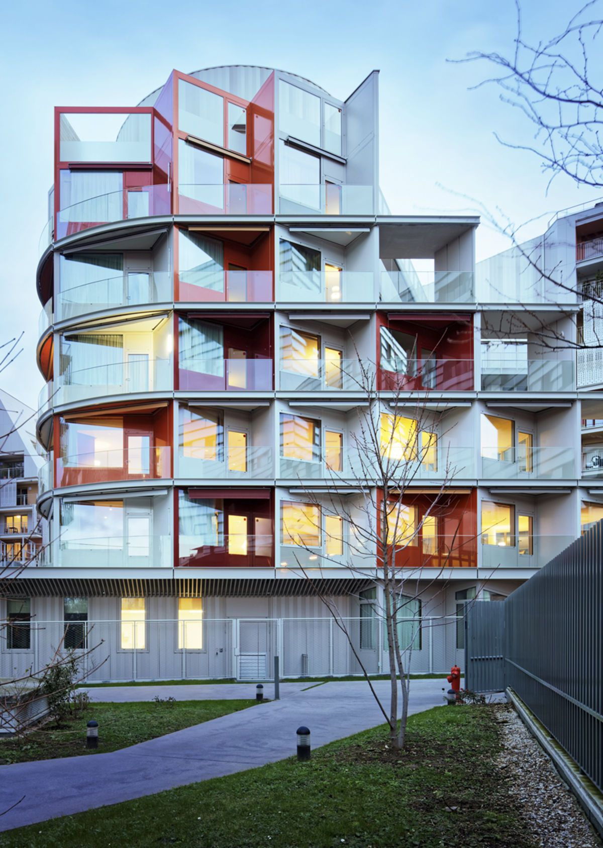 Architecture in france nursinghome by atelier du pont also colour rh pinterest