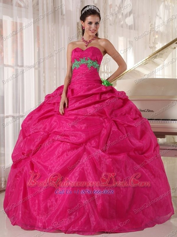 Home :: Beautiful Quinceanera Dresses :: Hot Pink Ball Gown ...