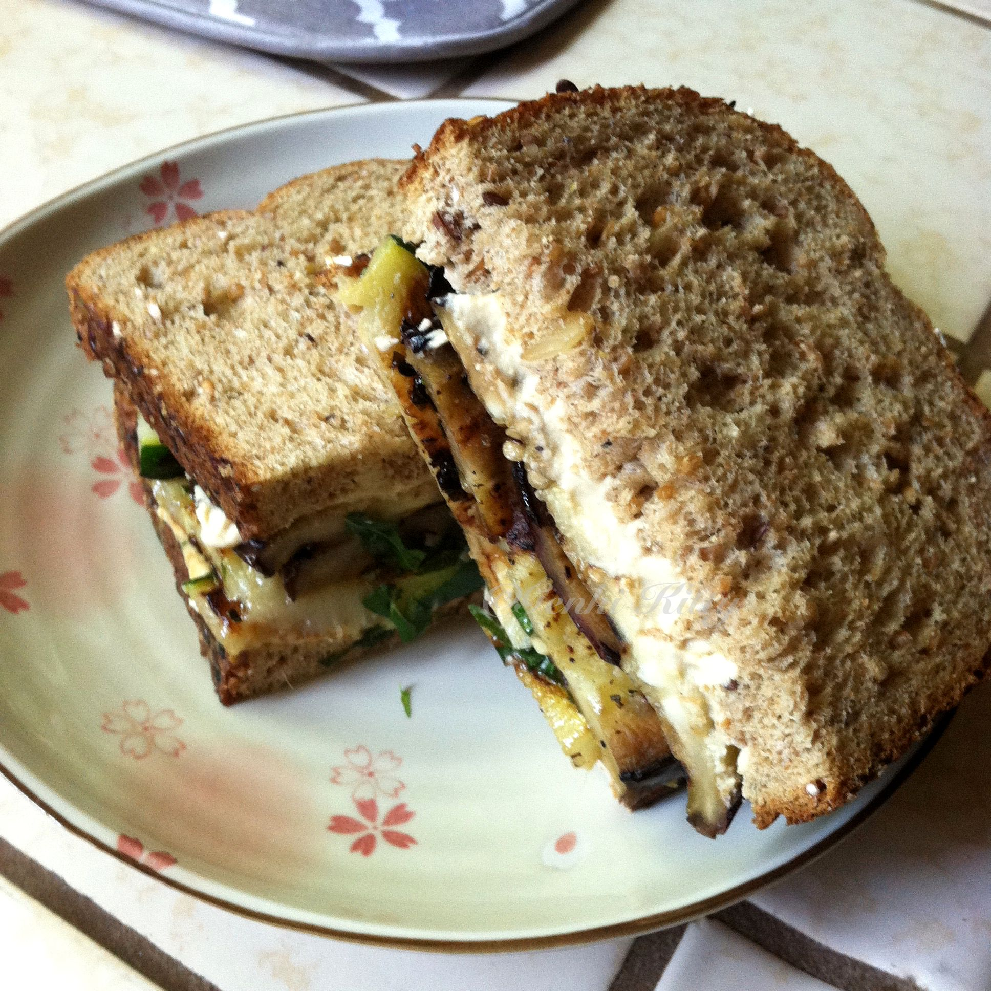 Eggplant and Zucchini Sandwich Vegan Recipe
