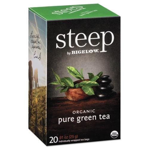 Photo of Steep Tea, Pure Green, 0.91 Oz Tea Bag, 20-box – Default Title