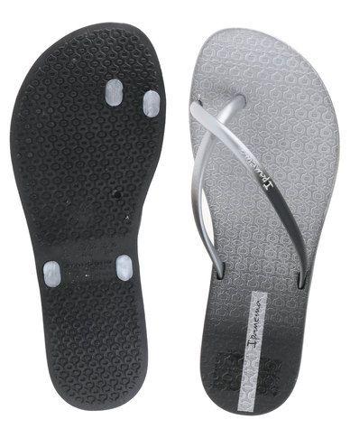 1353e5dd68b Ipanema Fit Summer Fem Flip Flops Black Silver