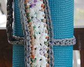 Yoga Mat Strap, (marble and gray) totally recycled from plastic shopping bags, earth friendly yoga : )