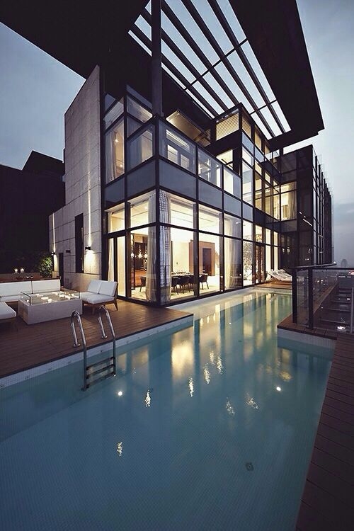 Pin By Arc Lab On Al Contemporary Houses House Pent House