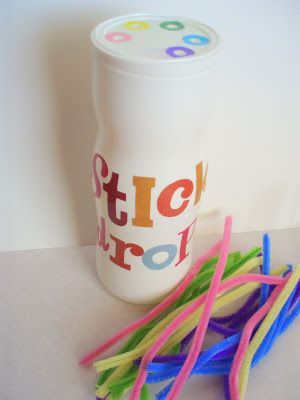 the journals of a Laura Ingalls wannabe: Pipe Cleaner Poking Toy - Fine Motor Activity