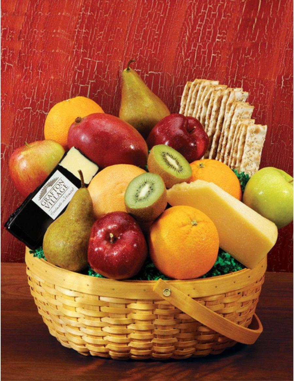 Jumbo Cheese Fruit Basket Gourmet Food Gift Basket Gourmet Gift Baskets Farm Fresh Fruit